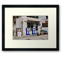 Derelict petrol station, Alonissos Framed Print