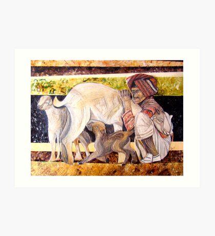 caring shepherd Art Print