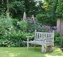 Garden Seat by Sally J Hunter