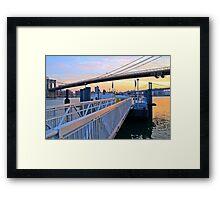 East River Ferry Slips Framed Print
