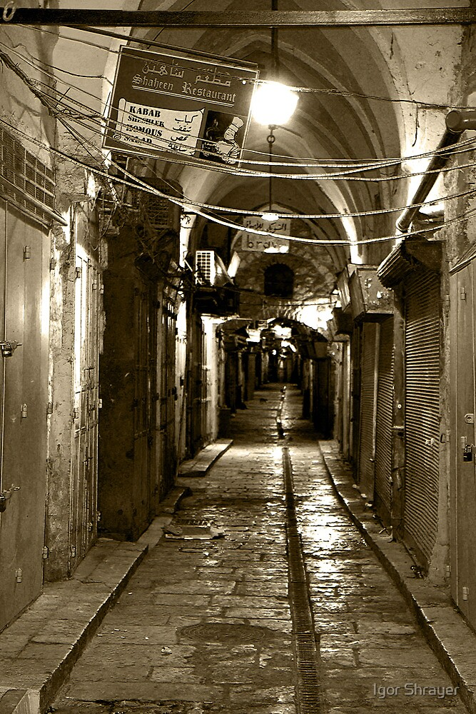 Light in Jerusalem - When Night Enveloped the Old City  by Igor Shrayer