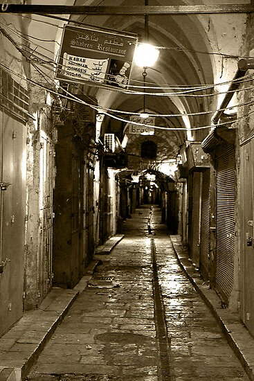 Light in Jerusalem - When Night Enveloped the Old City  by Igor Shrayer