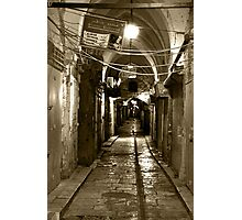 Light in Jerusalem - When Night Enveloped the Old City  Photographic Print