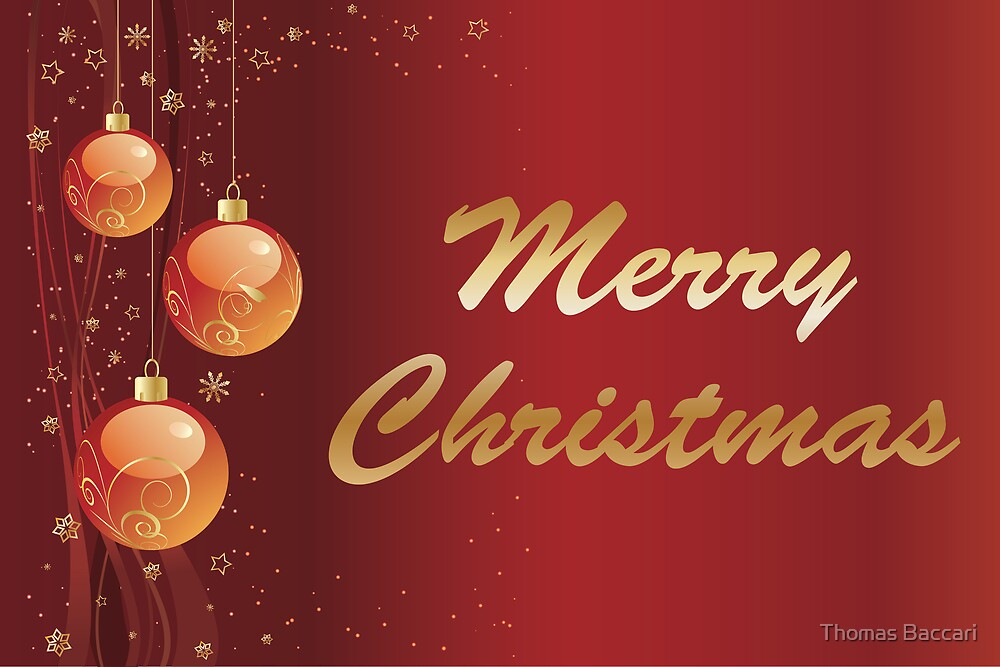 Merry Christmas Card by TJ Baccari Photography