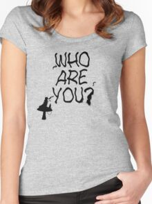 Caterpillar - Who Are You? Ver. 1 (Alice In Wonderland) Women's Fitted Scoop T-Shirt