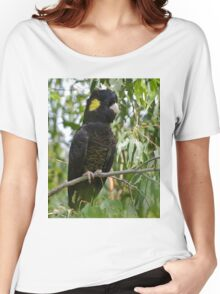 Yellow-tailed Black-Cockatoo  Women's Relaxed Fit T-Shirt