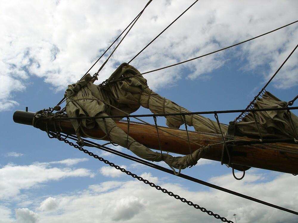 Bowsprit of a sailing ship by David  McCaw