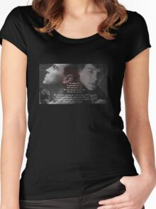 Sherlock Holmes & Jim Moriarty- Sheriarty Women's Fitted Scoop T-Shirt