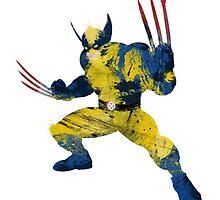 Wolverine Comic Version - Splatter Art by Firenutdesign