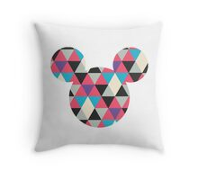 Mouse Geometric Triangle Pattern Silhouette Throw Pillow