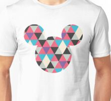 Mouse Geometric Triangle Pattern Silhouette Unisex T-Shirt