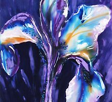 Iris on silk by © Pauline Wherrell