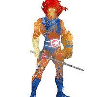 Lion-O Splatter Art by Firenutdesign