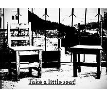 Take a litle seat - antik Photographic Print