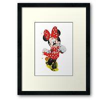 Minnie Mouse -Splatter Art Framed Print