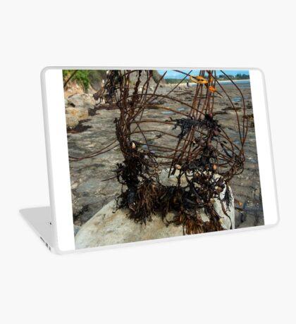 Beach abstract sculpture Laptop Skin