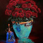 Red Mums by Janet Rawlings