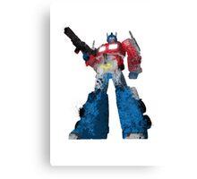 Optimus Prime - Splatter Art Canvas Print