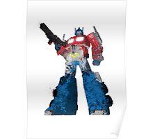 Optimus Prime - Splatter Art Poster