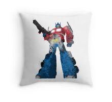 Optimus Prime - Splatter Art Throw Pillow