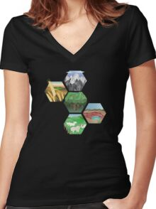 Resourceful Women's Fitted V-Neck T-Shirt