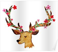 Watercolour Stag Poster