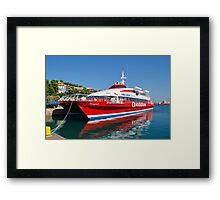 Flying Cat ferry, Alonissos island Framed Print