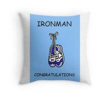 Ironman congratulations for a male. Throw Pillow