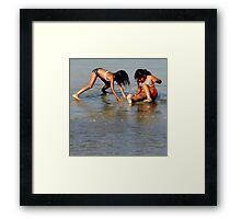 Shell Seekers of Summer Shores Framed Print
