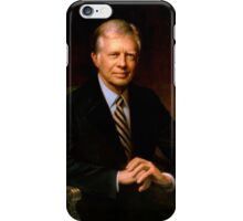 President Jimmy Carter Painting iPhone Case/Skin