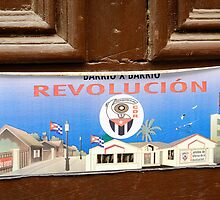 Door to CDR office, Havana, Cuba by buttonpresser