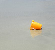 The Orange Pail - Beached for the Moment by Caren