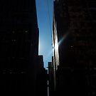 Glimpse (urban dark sunlight) by jezkemp