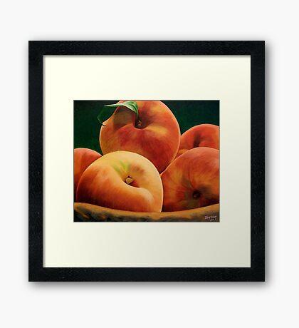 Peach Basket Framed Print