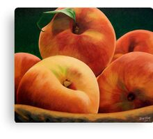 Peach Basket Canvas Print