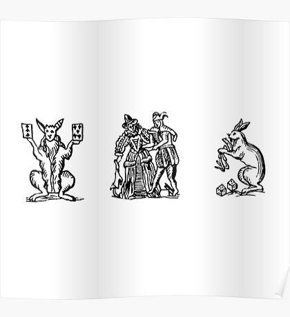 MYSTIC RABBITS Poster