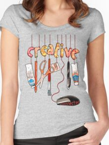 Connected Creative Women's Fitted Scoop T-Shirt