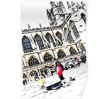 Busking at Bath Abbey Poster
