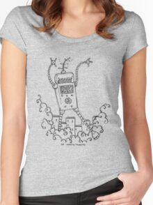 Be Careful, Robots! Women's Fitted Scoop T-Shirt