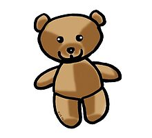 Cute brown teddy bear toy doll by CuteCartoon