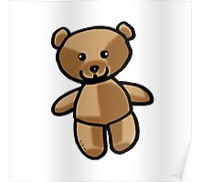 Cute brown teddy bear toy doll Poster