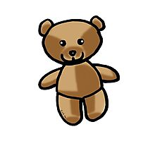 Cute brown teddy bear toy doll Photographic Print