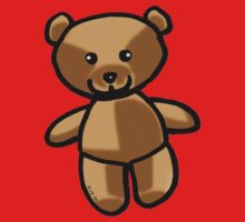 Cute brown teddy bear toy doll One Piece - Long Sleeve