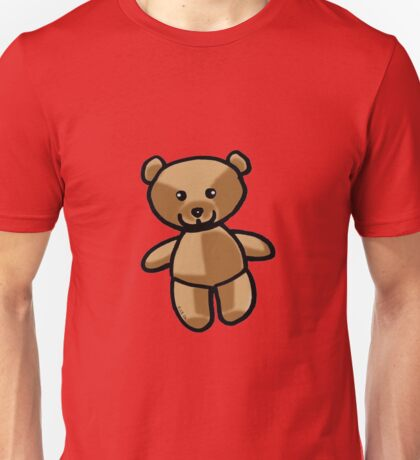 Cute brown teddy bear toy doll Unisex T-Shirt