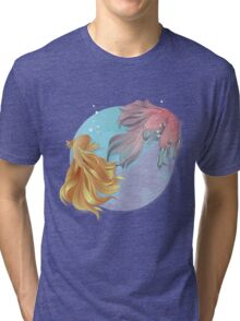 Siamese fighting fishes Tri-blend T-Shirt