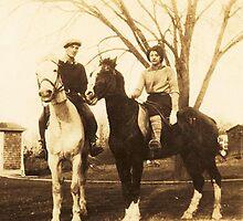 Charlie & Isabel on Horseback, ca. 1930 by artwhiz47