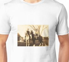 Charlie & Isabel on Horseback, ca. 1930 Unisex T-Shirt