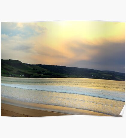 Victorian Sunset, Great Ocean Road Poster
