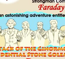 Attack of the Ginormous Presidential Stone Golems of Mount Rushmore Sticker
