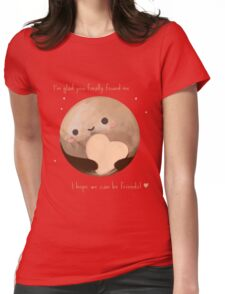 Hello Earth, I'm Pluto Womens Fitted T-Shirt